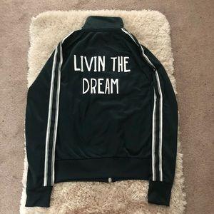 Dark green livin the dream track jacket size S